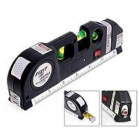 FIXIT Multipurpose Level Laser Horizon Vertical Measure Tape Aligner Bubbles Ruler - LV-03 Pro 3