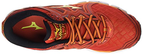 Mizuno Wave Sky, Chaussures de Running Homme Multicolore (Grenadine/limepunch/black)