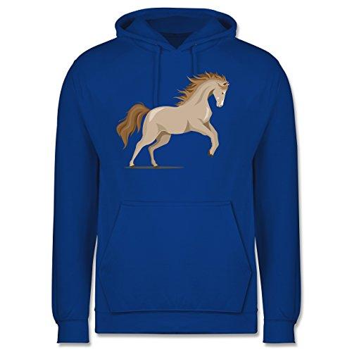 Pferde - steigendes Pferd - Herren Hoodie Royalblau