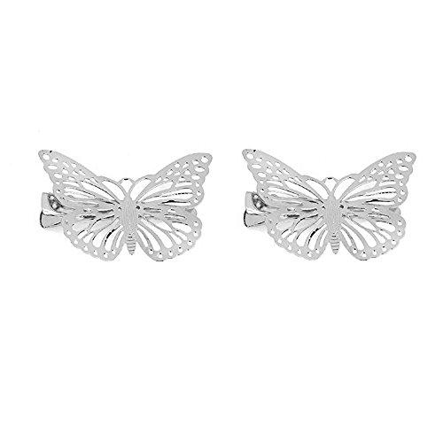 MagiDeal 2pcs Epoca Farfalla Accessori Capelli Fermaglio Per Capelli A  Coccodrillo Testata Accessori per Donne Ragazze befcd05be2cd