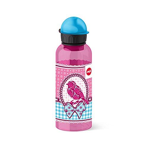Emsa Kinder-Trinkflasche, 600 ml, Sicherheitsverschluss, Teens Birdy Bow, Tritan, 518130