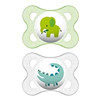 MAM Pacifiers, Baby Pacifier 0-6 Months, Best Pacifier for Breastfed Babies, Animal' Design Collection.