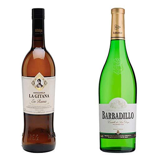 Manzanilla La Gitana En Rama Y Castillo San Diego - D. O. Manzanilla De Sanlúcar De Barrameda Y Vino Blanco - 2 Botellas De 750 Ml