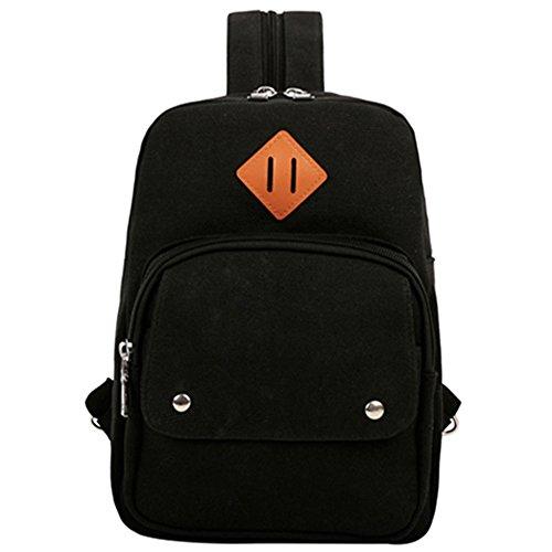 Rucksack Crossbody Bag Brusttasche Schulterücksack Umhängetasche Fahradfahren Urlaub (Schwarz2) (Kleines Mädchen-kleidung Zu Speichern)