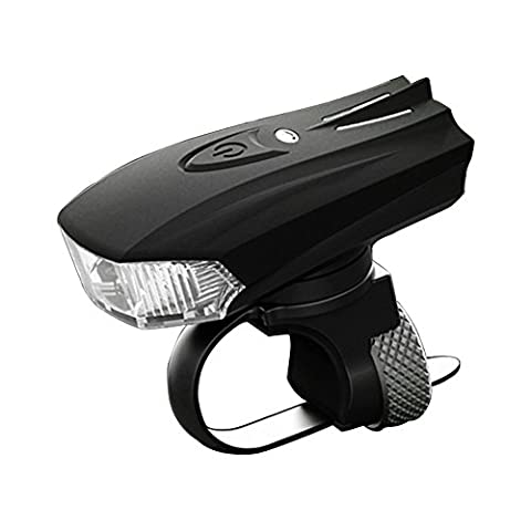 MACHFALLY USB Rechargeable Bike Light 1200mAh StVZO Mount Bicycle Headlight LED Waterproof Front Torch Night Mountain Cycling Flashlight Easy to Install & Remove for Safe Cycling Black