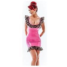 Westward Bound Damen Etui Kleid rosa PS Fuchsia with Transpare Medium