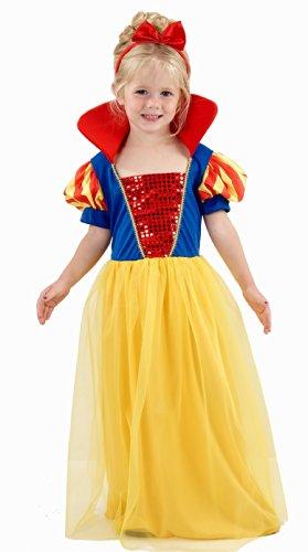 Kleinkind Mädchen Prinzessin Kostüm Schnee 3 ()