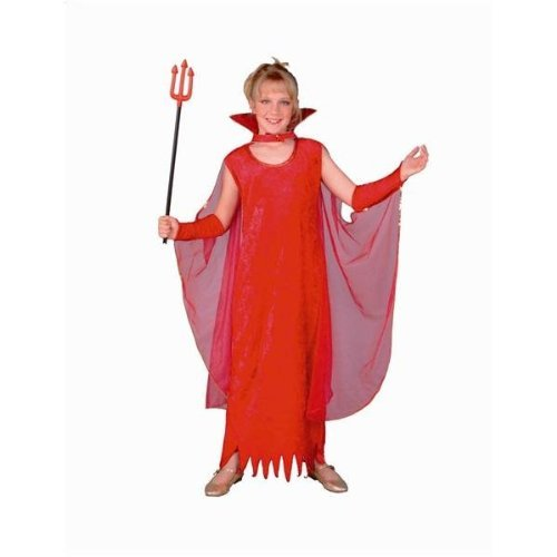 RG Costumes Glamour Devil Girl Costume, Child Medium, White by RG ()