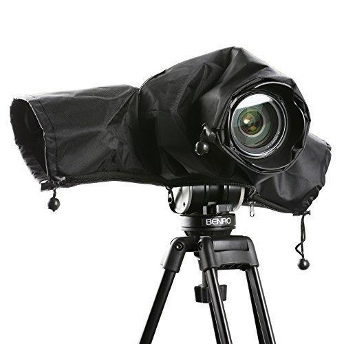 Galleria fotografica Cover anti-pioggia impermeabile in nylon Movo CRC01 con manicotti per fotocamere reflex digitali Canon EOS, Nikon, Sony, Olympus, Pentax e Panasonic