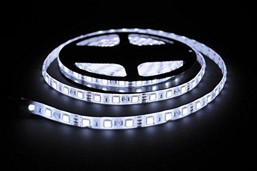 ProGoods 5m kaltweiss SMD LED-Streifen/LED-Strip mit 300 LED's (60Stk/m) bestückt | 12V, 2A | optimal für Innenraumbelechtung | selbstklebend | wasserdicht | energieeffizient