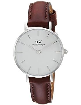 Daniel Wellington Damen-Armbanduhr Analog Quarz One Size, weiß, braun