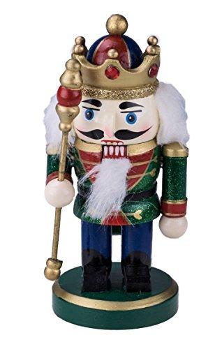 (Clever Creations   Traditioneller Nussknacker-König aus Holz   mit Krone, Stiefeln & Zepter   rundliches Design   Festliche Weihnachtsdeko   perfekt für Regale & Tische   goldfarben und rot   15,9 cm)