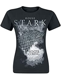 Game Of Thrones House Stark - Camiseta Manga Corta Mujer