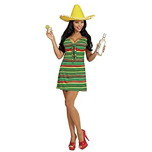 WIDMANN Vestido Nacional lejano Oeste Mexicana Señoras Vestido Occidental para Mujer Adultos Traje Traje (Mujeres: 8-10)