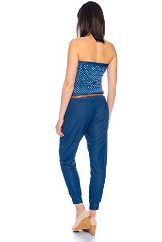 Kendindza Collection - Combinaison - Femme Punkte Blau