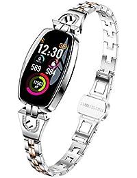 Omiky® Wasserdicht Smartwatch, H8 Farbbildschirm Blutdruck- / Herzfrequenzmonitor Smart Armbanduhr Schrittzähler,Perfekt Geeignet für Männer, Frauen