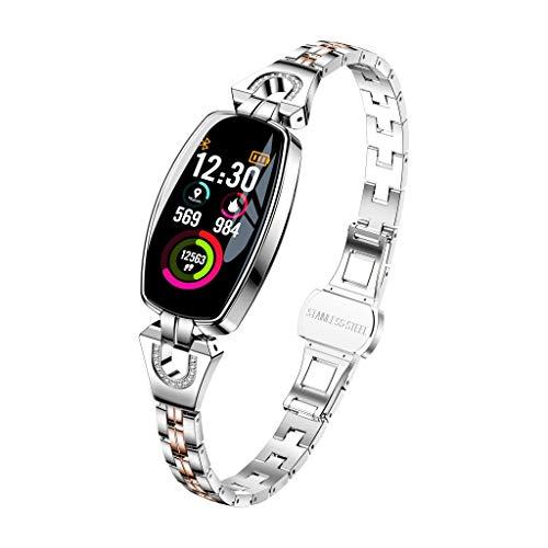 Fitness Tracker,Colorful Farbbildschirm Fitness Armband mit Pulsmesser, Smartwatch Wasserdicht Schrittzähler, Aktivität Tracker Smart Band Schlaf Monitor Kompatibel mit Android und IOS (Silber)
