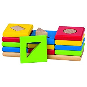 Goki Goki-58647 Puzzles de maderaPuzzles de maderaGOKITabla de Formas y Colores, Basic, (4013594586474)