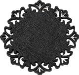 Dulce Cocina Polyester Filz Untersetzer Set von 6 - Home/Haus Dekorationen - Gute Drinks saugfähig - Schwarz