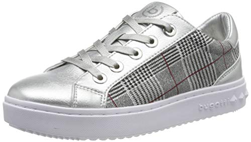 bugatti Damen 432636055969 Sneaker, Silber (Silver/Multicolour 1381), 42 EU -