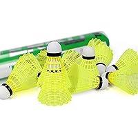 Bádminton volantes,Lehdon 12pcs avanzada Nylon bádminton formación plástico pelotas de bádminton con gran estabilidad y durabilidad para uso en interiores al aire libre deportes,Amarillo