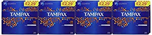 Tampax Super Plus with Applicator 20 Tampons- Pack of 8 (Total 160)