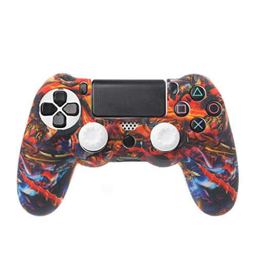 Lamdoo Schutzhülle Gamepad Hülle Hülle aus weichem Silikon Analoger Daumengriff Joystick Rocker Cap Anti-Rutsch für Sony Playstation 4 PS4 Wireless Controller -