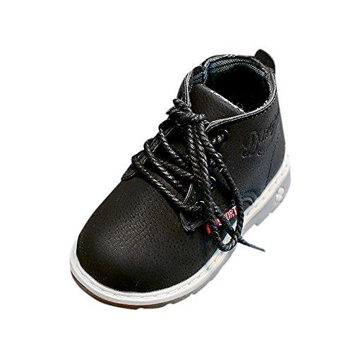 Ginli scarpe bambino,Scarpe Primi Passi Scarpine Neonato Scarpe Calde per Bambini Calzature Bambina Autunno Inverno Moda per Bambini Ragazzi Ragazze Scarpe da Tennis con Fibbia Stringate