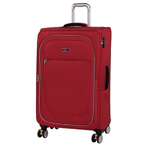 it luggage Lockdown 8 Wheel Lightweight Semi Expander Suitcase Large with TSA Lock Koffer, 82 cm, 126 liters, Rot (Red)