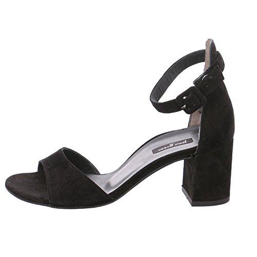 Paul Green 6969-062, Sandales Pour Femme Noir Noir Noir