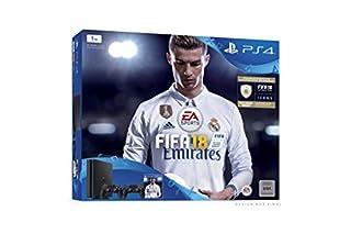 PlayStation 4 - Konsole (1TB, schwarz) inkl. 2. DualShock Controller + FIFA 18 (B074G6BC59) | Amazon Products