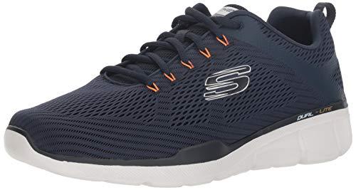 Skechers Herren Equalizer 3.0 Sneaker, Blau (Navy Orange Nvor), 44 (Orange Und Blaue Schuhe)