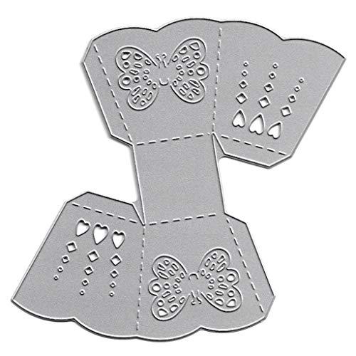 Bogji - 3D Schmetterling Box Stanzen sterben Prägeschablone Vorlage Schimmel DIY Papier Kunsthandwerk Sammelalbum Lesezeichen Karte Dekor