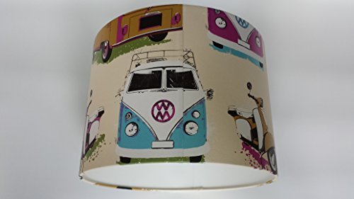 12-30-cm-lampshade-made-from-vw-volkswagen-camper-vans-scooters-muriva-wallpaperceiling-shade