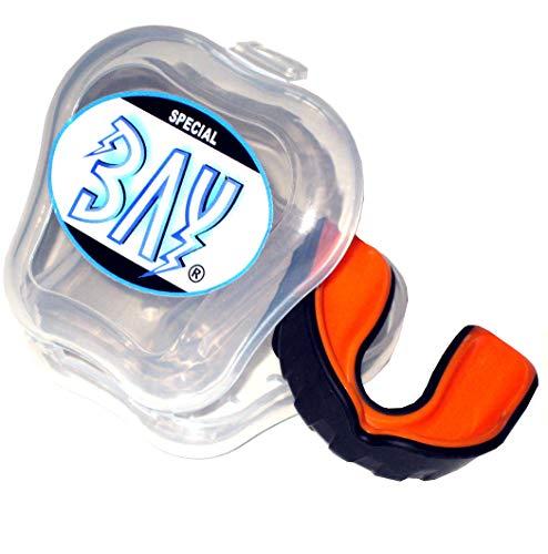 BAY® PRO LINE CE - MMA - ZAHNSCHUTZ ---- schwarz mit belüfteter BOX, Sport Mundschutz, Zahnschützer, Mundschützer