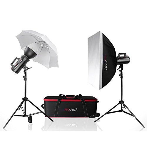 Pixapro ® LUMI400 800Ws Ventilatorenkühlung S Fit 2-Strobe Kopf Studio Blitz Kit (4/00 40 (DE) 0) Pixapro ® LUMI 800Ws 400 Twin Set mit Auslöser &Receiver (4/00 40 (DE) 0), 1 Jahr Garantie (UK eingetragenes Warenzeichen Qualität Kit 150w Flash