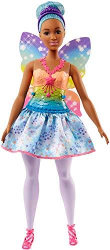 Barbie Dreamtopia, muñeca hada con falda azul, juguete +3 años (Mattel FJC87)