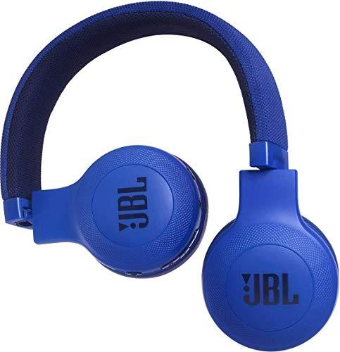 JBL E45BT On-Ear Ohraufliegender Bluetooth Kopfhörer Faltbar Inkl. Abnehmbares Verwicklungsfreies Textilkabel mit Universeller 1-Tasten-Fernbedienung mit Integriertem Mikrofon – Blau - 3