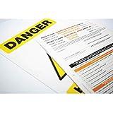 """Caledonia signos/ensalada """"a un permiso de trabajo:"""" trabajo en caliente etiqueta, 3parte NCR, 210mm x 297mm (Pack de 10)"""