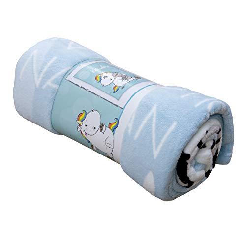 Pummeleinhorn flauschige Decke