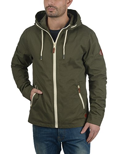 BLEND Bobby Herren Übergangsjacke Stoff-Jacke mit Kapuze aus 100% Baumwolle Dusty Green (70595)