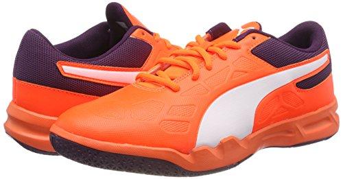 Puma Unisex-Erwachsene Tenaz Handballschuhe, Orange (Shocking Orange-Puma White-Shadow Purple 03), 46 EU - 5