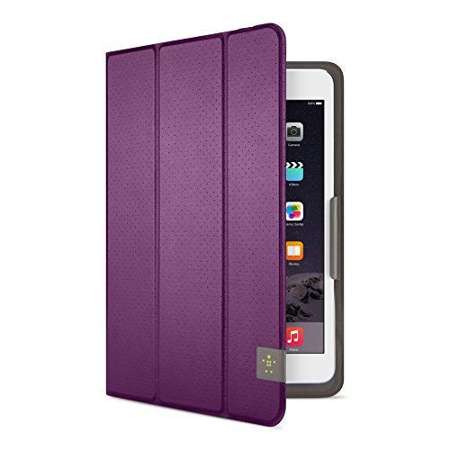 Belkin Universal Trifold Schutzhülle (für Tablets, Apple iPad mini 1-4, Samsung Galaxy Tab A (8 Zoll), Samsung Galaxy Tab S2 (8 Zoll)) lila