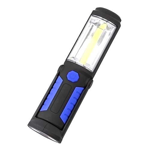 SOLEMEYO Lampada Portatile LED Ricaricabile USB [7W 1000 Lumen], Torcia COB Calamita Luce Regolabile 360 [21 Cm], Lampada Campeggio Gancio Clip Magnetica