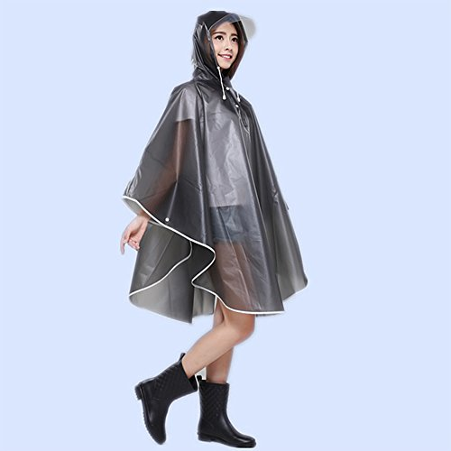 Raincoat, Kbnian Waterproof PVC Rain Poncho, Raincoat, Raincoat, Rainwear for Women and Men Biking, Black