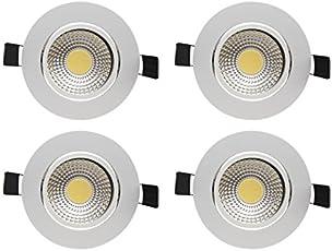 Bene Dazzle Aluminium Round Ceiling Light, (White, 5w, Pack of 4 Pcs)