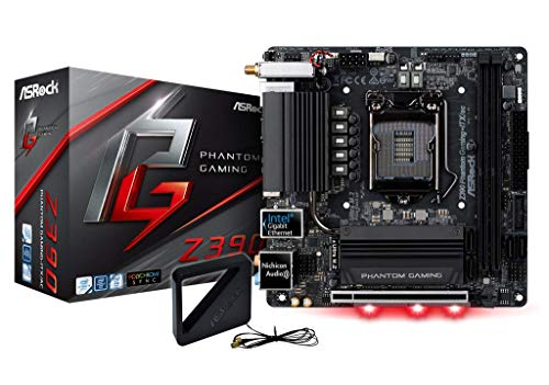 ASRock Z390 Phantom Gaming-ITX/AC Mainboard, Socket 1151, Mini-ITX Motherboard, mattschwarz