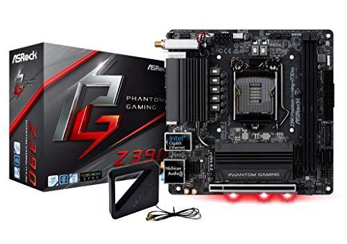 ASRock Z390 Phantom Gaming-ITX/AC Mainboard, Socket 1151, Mini-ITX Motherboard, mattschwarz (Itx-motherboards)