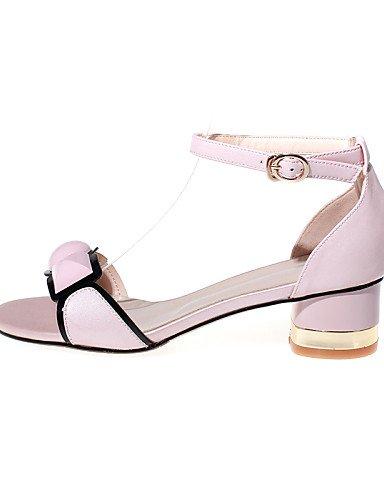 LFNLYX Chaussures Femme-Habillé / Décontracté / Soirée & Evénement-Rose / Blanc-Gros Talon-Talons / Bride de Cheville-Sandales-Poils White