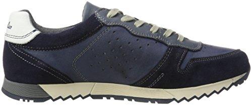 Australian Denzell Leather, Chaussures à Lacets Homme Bleu Marine